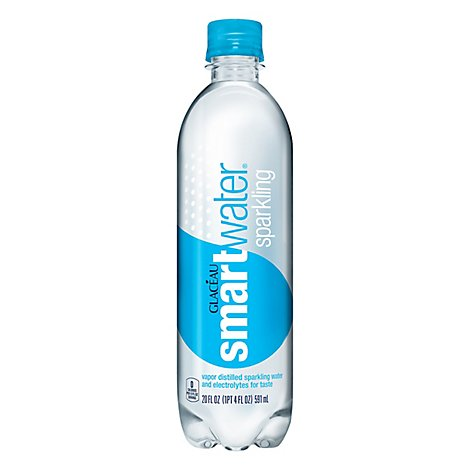 smartwater Water Sparkling Vapor Distilled - 20 Fl. Oz.