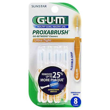GUM Proxabrush Interdental Cleaners Go-Betweens Ultra Tight - 8 Count