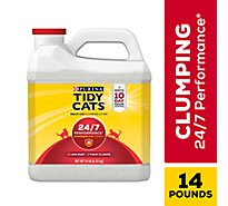 Tidy Cats Cat Litter 24/7 Performance Scoop For Multiple Cats Jug - 14 Lb