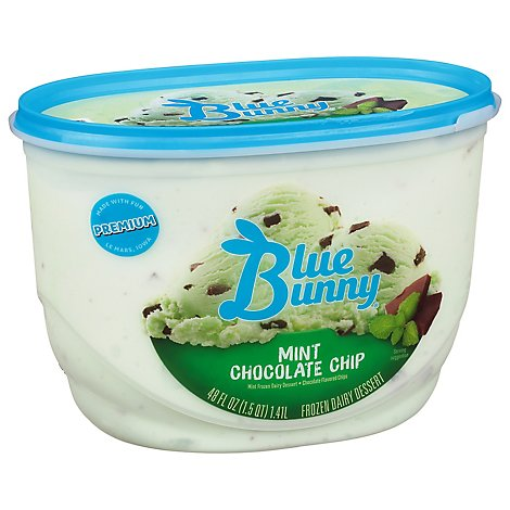 Blue Bunny Ice Cream Mint Chocolate Chip - 48 Fl. Oz.