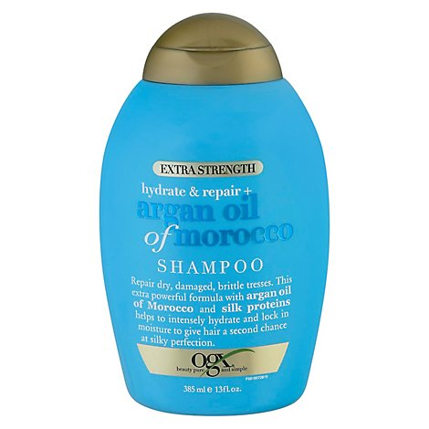 OGX Shampoo Argan Oil Of Morocco Hydrate & Repair Extra Strength - 13 Fl. Oz.