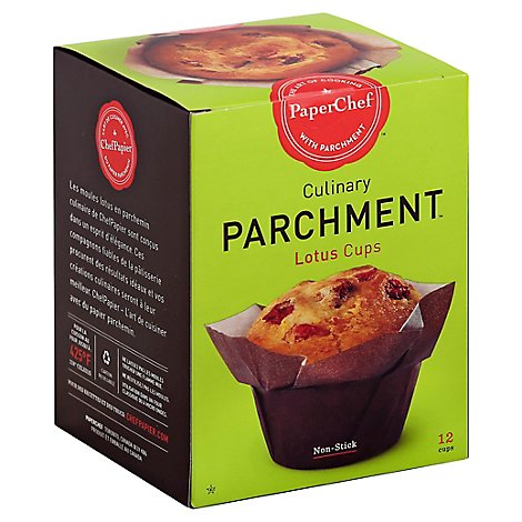 PaperChef Parchment Culinary Lotus Cups Non-Stick - 12 Count