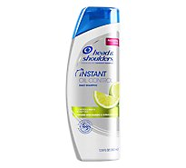 Head & Shoulders Shampoo Dandruff Instant Oil Control with Mango & Citrus Essence - 12.8 Fl. Oz.