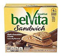 belVita Breakfast Biscuits Sandwich Dark Chocolate Creme - 5-1.76 Oz