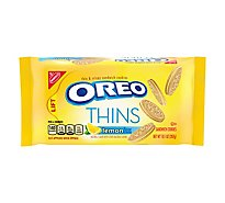 OREO Cookies Sandwich Thins Lemon Flavor Creme - 10.1 Oz