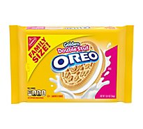 OREO Double Stuf Sandwich Cookiess Golden Family Size - 20 Oz