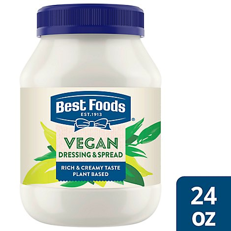 Best Foods Dressing & Sandwich Spread Alternative to Mayonnaise Vegan - 24 Oz