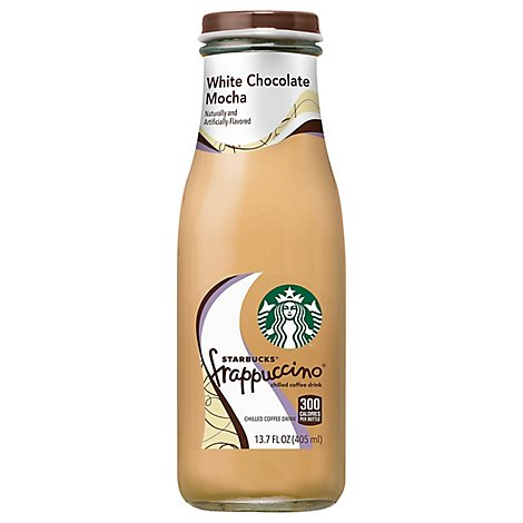 Starbucks frappuccino Coffee Drink Chilled White Chocolate Mocha - 13.7 Fl. Oz.