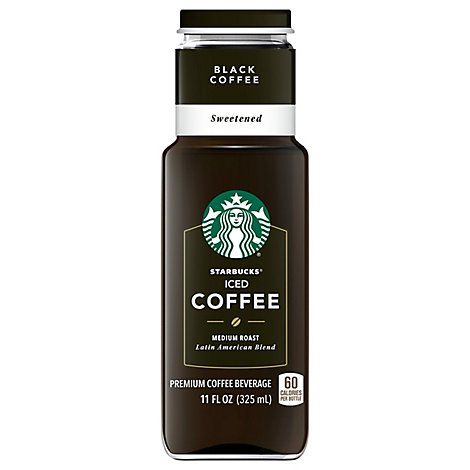 Starbucks Coffee Beverage Premium Iced Coffee Black Coffee Sweetened - 11 Fl. Oz.