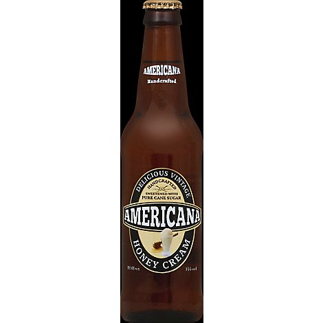 Americana Soda Honey Cream Bottle - 12 Fl. Oz.