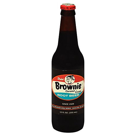 Brownie Soda Root Beer Caramel Cream - 12 Fl. Oz.