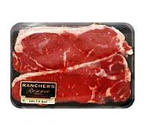Meat Counter Beef USDA Choice Top Loin New York Strip Steak Boneless - 1.50 LB