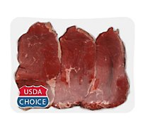 Meat Counter Beef USDA Choice Bottom Round Steak Thin Carne Asada - 1 LB