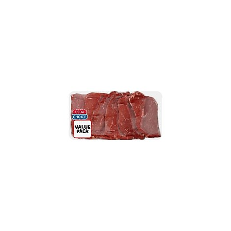 Meat Counter Beef USDA Choice Bottom Round Steak Thin Carne Asada Value Pack - 1 LB