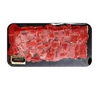 Meat Counter Beef USDA Choice Stew Meat Boneless Extra Lean Valu Pack - 2 LB