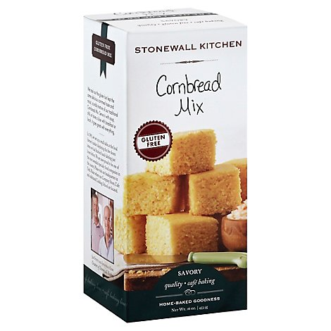 Stonewall Kitchen Savory Cornbread Mix Gluten Free - 16 Oz