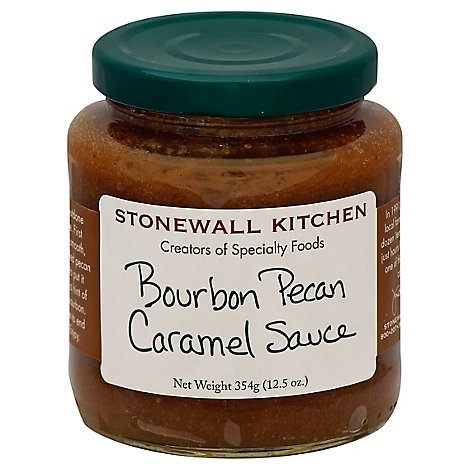 Stonewall Kitchen Sauce Caramel Bourbon Pecan - 12.5 Oz