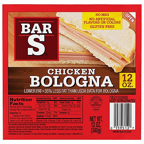 Bar-S Bologna Chicken - 12 Oz