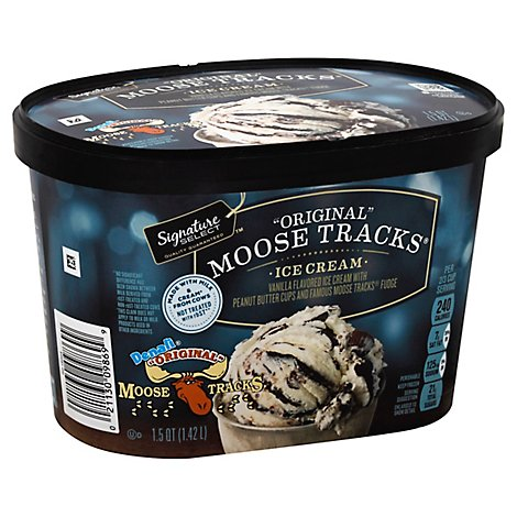 Signature SELECT Ice Cream Moose Tracks Original - 1.5 Quart