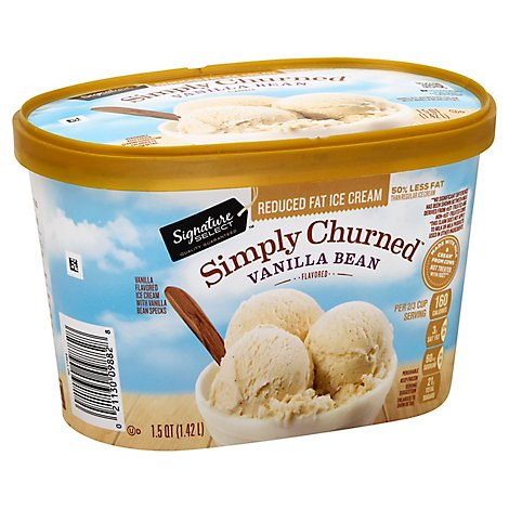 Signature SELECT Ice Cream Vanilla Bean Light & Creamy - 1.5 Quart