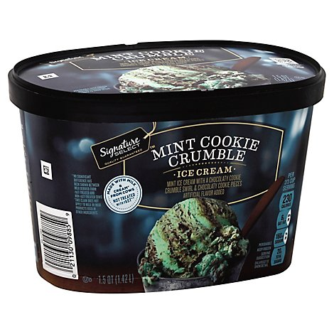 Signature SELECT Ice Cream Mint Chocolate Cookie Crumble - 1.5 Quart