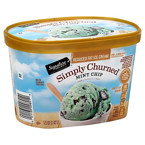 Signature SELECT Ice Cream Mint Chocolate Chip Reduced Fat - 1.5 Quart