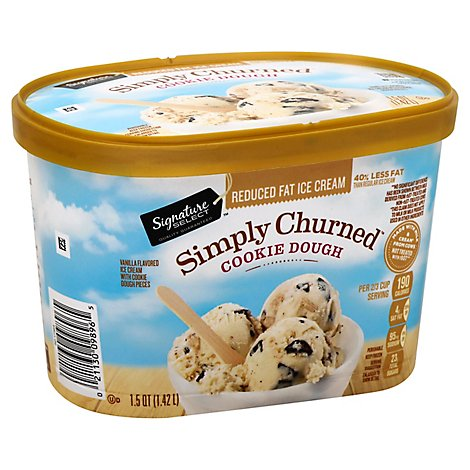 Signature SELECT Ice Cream Chocolate Chip Cookie Dough Reduced Fat - 1.5 Quart