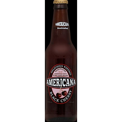 Americana Soda Black Cherry Bottle - 12 Fl. Oz.