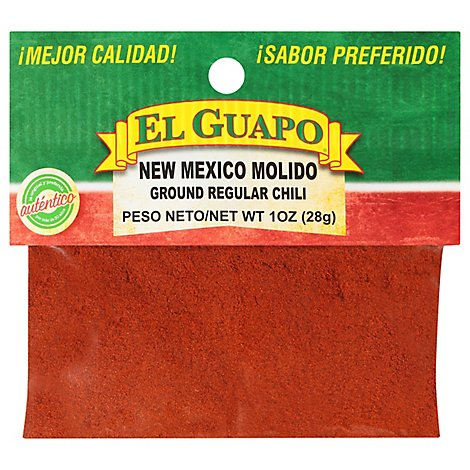 El Guapo New Mexico Molido Ground Regular Chili - 1 Oz