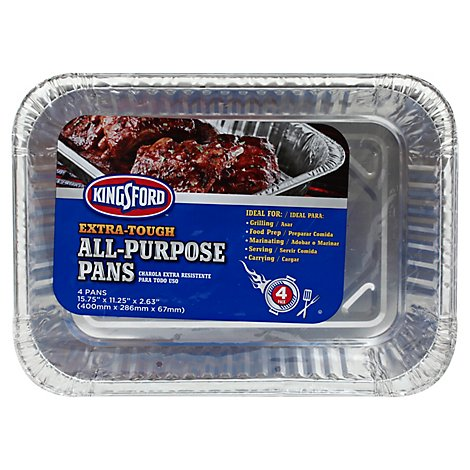 Kingsford All Purpose Pan - 4 Package
