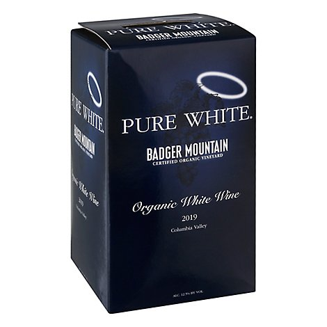 Badger Mountain Wine Pure White Box - 3 Liter