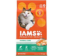 IAMS Proactive Health Cat Food Hairball Care With Chicken & Salmon - 7 Lb