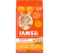 IAMS Proactive Health Cat Food Dry For Healthy Adult With Chicken - 3.5 Lb