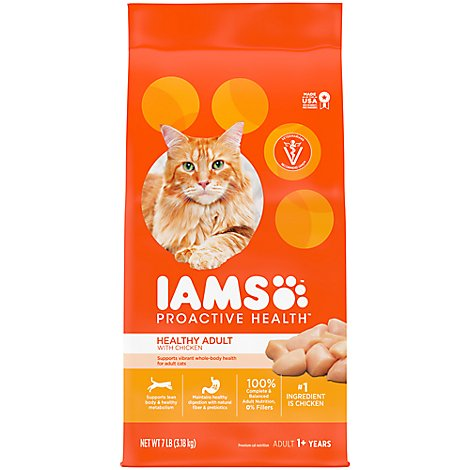 IAMS Proactive Health Cat Food Original with Chicken Bag - 7 Lb