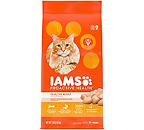 IAMS Proactive Health Cat Food Healthy Adult Dry With Chicken - 7 Lb