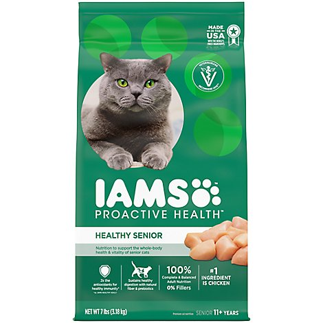 IAMS Proactive Health Cat Food Lively Senior - 7 Lb
