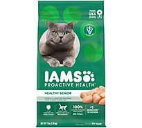 IAMS Proactive Health Cat Food Healthy Senior Dry With Chicken - 7 Lb