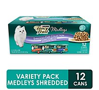 Fancy Feast Medleys Cat Food Gourmet Shredded Fare Collection In A Savory Broth Box - 12-3 Oz