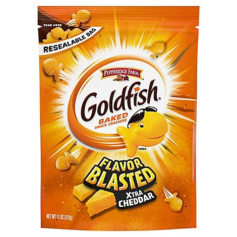 Pepperidge Farm Goldfish Crackers Baked Snack Flavor Blast Xtra Cheddar - 11 Oz