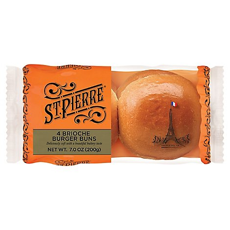 Brioche Burger Buns 4ct - Each