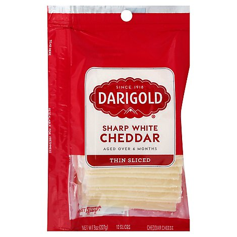 Darigold White Cheddar Slices Sharp - 8 Oz