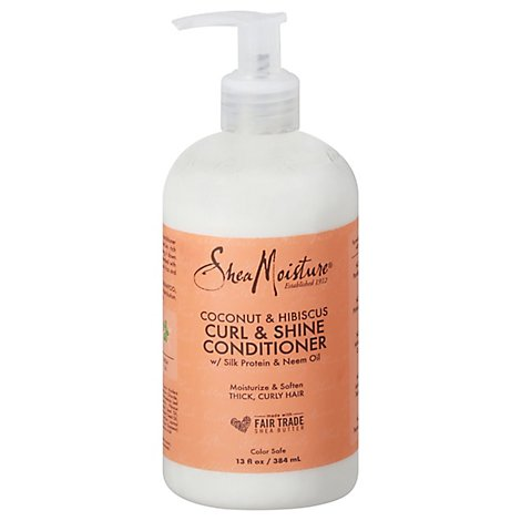 SheaMoisture Conditioner Coconut & Hibiscus Curl & Shine - 13 Fl. Oz.