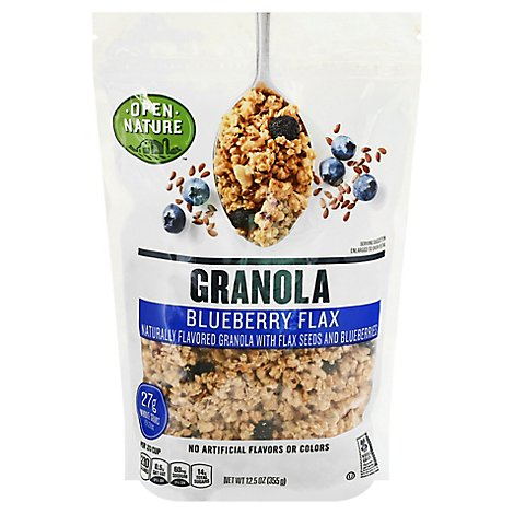 Open Nature Granola Blueberry Flax - 12.5 Oz