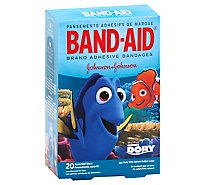 BAND-AID Brand Adhesive Bandages Disney Pixar Finding Dory Assorted Sizes - 20 Count