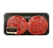 Meat Counter Ground Beef Hamburger Patties 80% Lean 20% Fat 3.2 Oz - 1 Lb.