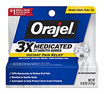 Orajel Pain Reliever Gel For All Mouth Sores Maximum Strength - 0.42 Oz