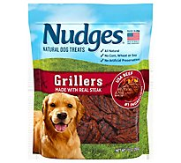 Nudges Dog Treats Grillers Natural Ingredients Real Steak Pouch - 10 Oz
