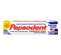 Pepsodent Complete Care Toothpaste Anticavity Flouride Original Flavor - 5.5 Oz