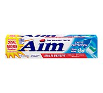 Aim Toothpaste Anticavity Fluoride Cavity Protection Ultra Mint Gel Value Pack - 5.5 Oz