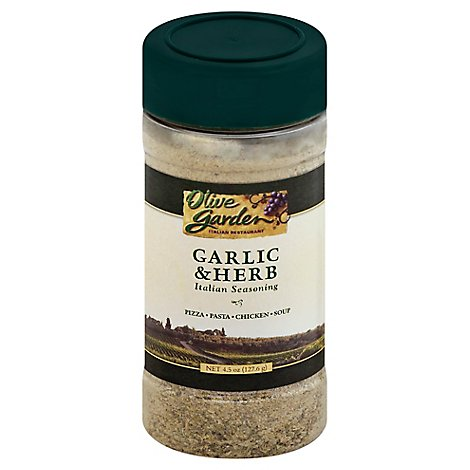 Olive Garden Seasoning Italian Garlic & Herb - 4.5 Oz